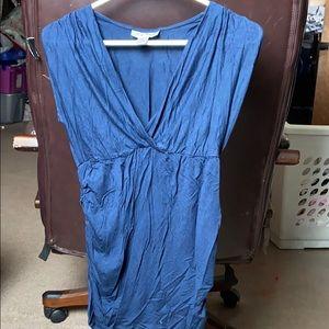 Maternity navy blue blouse